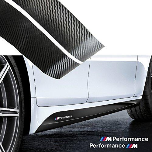 Xotic Tech 2x 2.15M Sport Performance Carbon Fiber Side Skirt Decal Stripe Sticker for BMW 3 4 5 Series F30 F31 F32 F33 F36 E60 E61