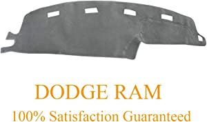 Yiz Dashboard Cover Dash Cover Mat Pad Custom Fit for Dodge Ram 1500 2500 3500 1994 1995 1996 1997 (Ram 94-97, Gray)