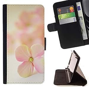 "For HTC One Mini 2 M8 MINI,S-type Flor Pétalo Blooming Naturaleza"" - Dibujo PU billetera de cuero Funda Case Caso de la piel de la bolsa protectora"