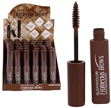 41dc1089f63 Amazon.com: KLEANCOLOR Frameous Brows-Tinted Brow Mascara - Brown ...