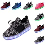 DEDU LED Light Up Shoes Girls Boys USB Charging Flashing Sneakers
