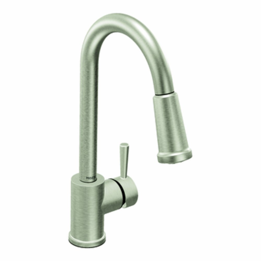 moen 7175csl level one handle high arc pulldown kitchen faucet