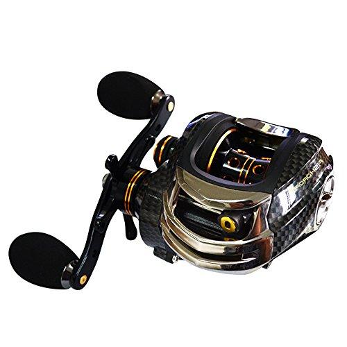 Baitcasting reel Brake Fishing Lure revolving-spool reel Baitcaster(Left-Handed (Spin Left Handed Reel)