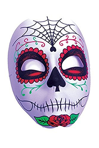 [Women's Gothic Sugar Skull Day Of The Dead Mask Web Design] (Gothic Couples Costumes)