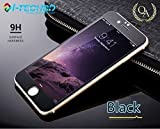 Best iPhone 6/ 6S Screen Protector shiny iphone 6 Tempered Glass Screen Protector iPhone 6/6s glass screen protector 4.7 inch iphone 6 mirror protector(Shiny Black-(Front+Back)