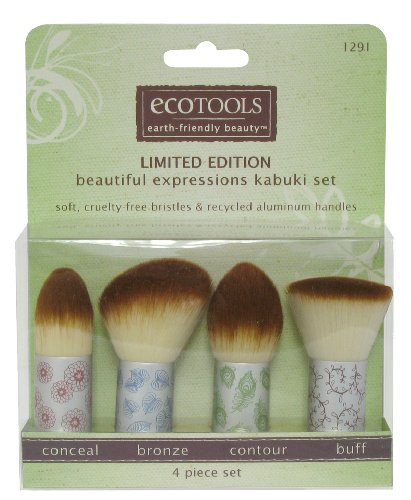 ecoTOOLS Make-Up Kabuki Brush Set