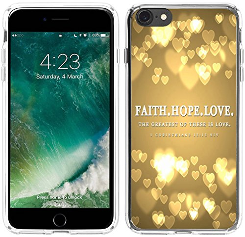 - 6S Plus Case Christian Sayings,Hungo Soft TPU Silicone Protective Cover Case Compatible with iPhone 6 Plus/6S Plus Bible Verse Corinthians Niv Christian Saying Bible Verses Rubber