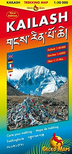 Kailash Trekking And Panoramic Map  Trekking Map Kailash 1 50000 Darchen 1 4000 Tibet 1 12 Mill. Bilingual Map  Tibetisch Römisch. Legende  Engl. Dt. Ital. Franz. Tibet. Japan