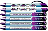 "Greeting Pen ""Teachers Shape the Future"" #1 Teacher Pens with Rotating Messages, 6 Pen Set (36402)"