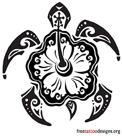 Diseno de tatuaje tortuga hawaiana, vinilo adhesivo, pegatinas ...