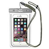 Waterproof Case Pouch: EOTW Waterproof Cell Phone Pouch Pocket Bag with Military Class Lanyard For Boating Swimming, For iPhone 6 6S Plus Samsung S4 S5 S6 S7 Edge Plus, Note 5 4,LG G5 G4 Moto G4- Gray