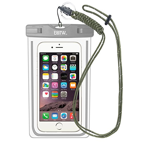 Waterproof Case Pouch: EOTW Waterproof Cell Phone Pouch Pocket Bag with Military Class Lanyard For Boating Swimming, For iPhone 6 6S Plus Samsung S4 S5 S6 S7 Edge Plus, Note 5 4,LG G5 G4 Moto G4- Gray - Cell Phone Accessories