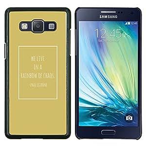 Stuss Case / Funda Carcasa protectora - Chaos Gold Cezanne Cita Cartel - Samsung Galaxy A5 ( A5000 ) 2014 Version