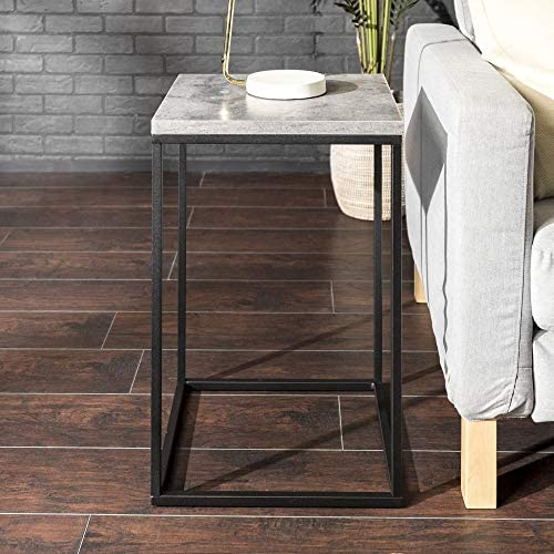 Walker Edison Modern Open Square Side Accent Living Room Small End Table