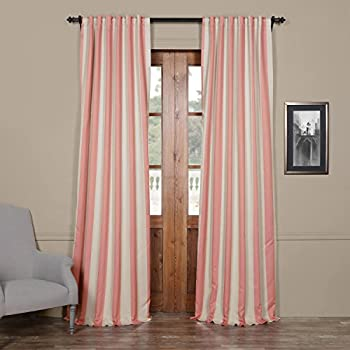 Amazon.com: Exclusive Home Curtains Chateau Striped Faux Silk ...