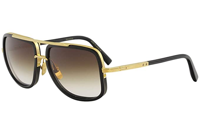 d8f5e6f5e790 Sunglasses Dita MACH ONE DRX 2030 B Shiny 18K Gold-Black w D.Brown to  ClearAR  Amazon.co.uk  Clothing