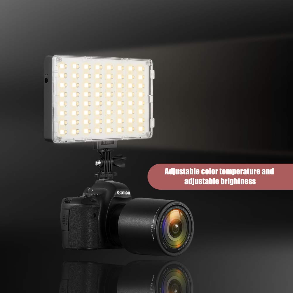 GVM RGB LED Camera Light Full Color Output Video Lights with APP Control CRI97 Dimmable 3200K-5600K Light Panel for YouTube DSLR Camera Camcorder Photo Lighting, with Battery, Filter, LCD Display by GVM Great Video Maker (Image #5)