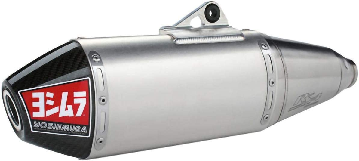 for 19 Yamaha YZ250F Yoshimura RS-4 Slip-On Exhaust Signature//Aluminum with Carbon Fiber End Cap