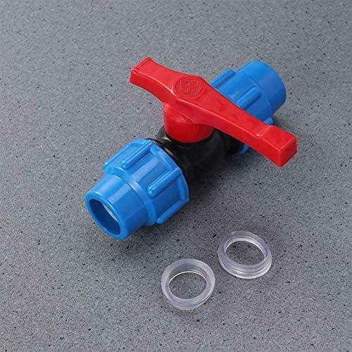 Toolstar Vanne /à boisseau sph/érique en plastique MDPE Raccord de compression avec vanne /à bille en ligne pour tuyau deau 20 mm 25 mm noir//bleu 32 mm