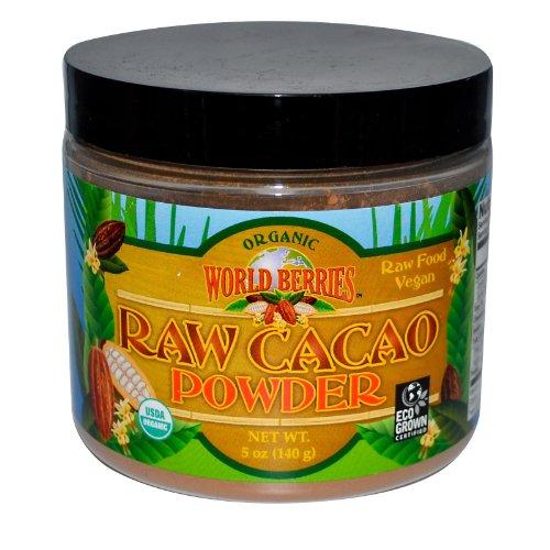 Raw Cacao Powder Organic World Berries 5 oz Powder