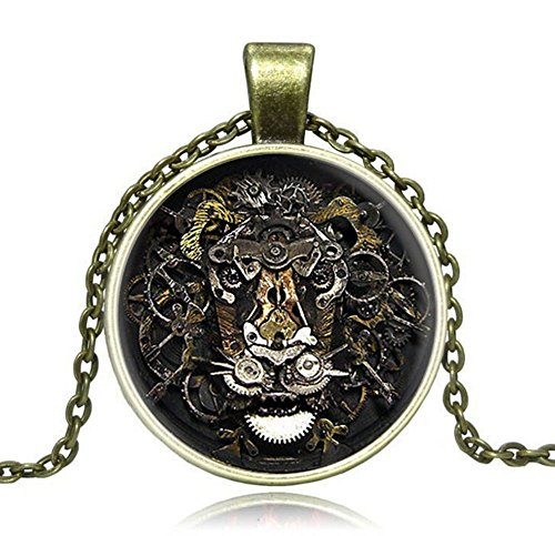 tian-qi-hot-european-and-american-trade-jewelry-retro-steampunk-gear-lion-like-exaggerated-gem-neckl