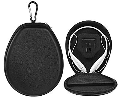 BOVKE(TM) Shockproof PU Leather Protection Carrying Case Cover Box Bag for LG Electronics Tone + HBS-730 HBS730 HBS 730 HBS-750 700 HBS-800 900 700W Stereo Wireless Bluetooth Headset HeadPhone (Black) from BOVKE