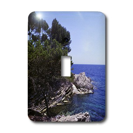 3dRose LLC lsp_37785_1 Mediterranean Shoreline. Calas, Mallorca, Spain Single Toggle Switch by 3dRose