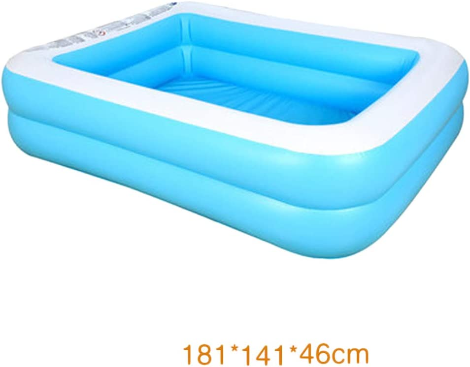 yotijar Natación Inflable Grande Piscina Hinchable Patio Trasero Portátil Flotadores Bañera Natación - 181x141x46cm 1-3: Amazon.es: Juguetes y juegos