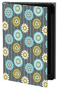 Keka Linda Birtel Paisley Pop Flowers - Funda de diseño (rígida, tipo libro) para Samsung Galaxy S3, diseño floral