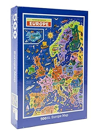 Europe Map Jigsaw Puzzle by James Hamilton Grovely by J R Jigsaws ...
