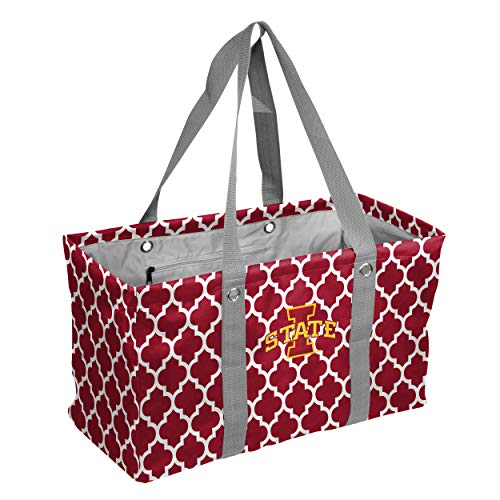 Logo Brands Collegiate Large Collapsible Picnic Tote Iowa State Cyclones, Cardinal, One Size