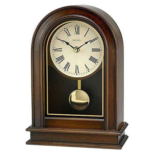 Bulova B7467 Hardwick Clock, Walnut Finish by Bulova