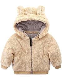 Little Boy Fleece Jacket with Hood Ear Winter Reversible