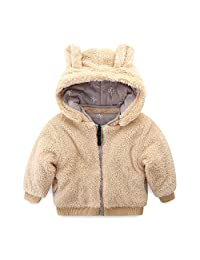 Mud Kingdom Little Boy Fleece Jacket with Hood Ear Winter Reversible