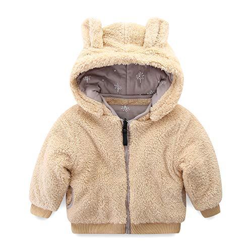 Mud Kingdom Cute Baby Boy Fleece Jacket with Hood Ear Reversible 18-24 Months