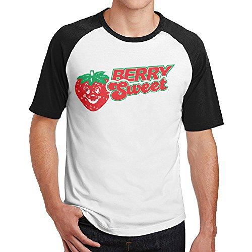 Hongfei Berry Sweet Mens Short Raglan Round Collar Tee Sizes
