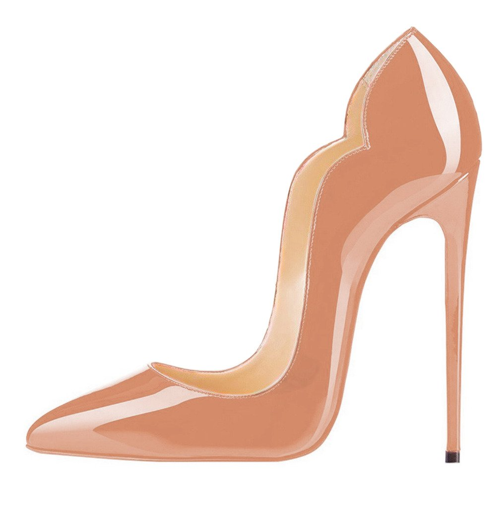 fe65867cf817 ... FSJ Women Classic Sexy Pointed Toe High Heels Sexy Classic Stiletto  Pumps Office Lady Dress Shoes ...