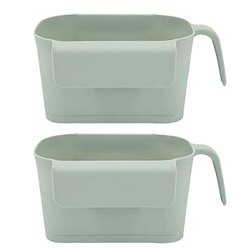 Bio M/ülleimer Blau Kitchen Box,BBTXS K/üchen-Abfalleimer Multifunktions Abfallbeh/älter Abfallsammler zum Hinstellen oder zum Anh/ängen,