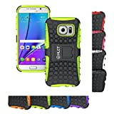 Galaxy S7 Case, HLCT Rugged Shock Proof Dual-Layer Case with Built-In Kickstand for Samsung Galaxy S7 (2016) (Green)
