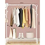 Simple Drying Rack, Commercial Grade Heavy Duty Clothing Rack Bedroom Clothes Storage Rack-N