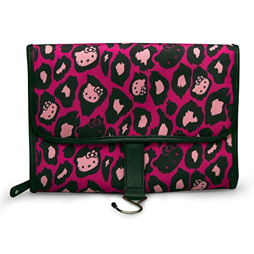 Hello Kitty Cosmetic Bag Pink Leopard Print Toiletry Case Licensed sancb0525 - Hello Kitty Leopard Print