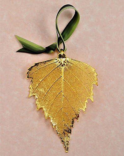 Gold Rose Leaf Real Leaf Ornament