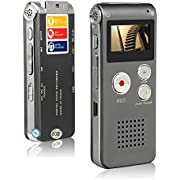 Btopllc Multifunctional Digital Audio Voice Recorder, Rechargeable Dictaphone with Mini USB Port, MP3/MP4 Music Player(Silver)