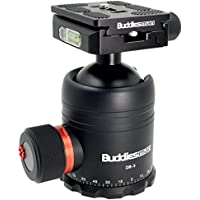 Buddiesman (Premium Version) Professional Ball Head with Quick Release Plate for Tripod Monopod DSLR Camera 77.2 lbs Load Capacity (DB-3)