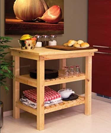 tavolo da lavoro banco in legno piano appoggio 90 x 60 cm arredamento casa