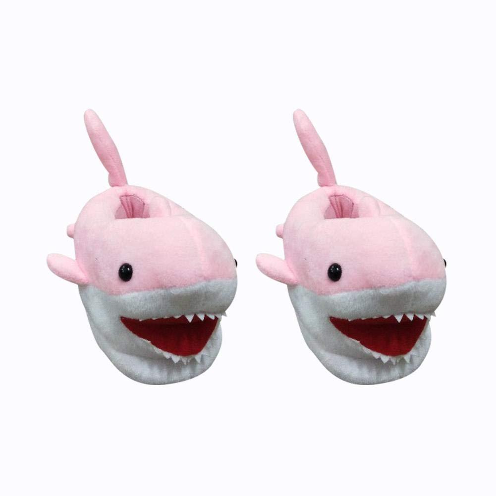 Per Cartoon Shark Winter Slippers Children House Creative Plush Shoes for Home