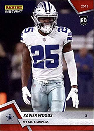 9c17ff1aac3 2018 Panini Instant Football #233 Xavier Woods RC Rookie Dallas Cowboys NFC  East Champions