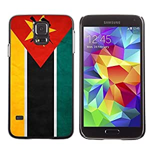 Shell-Star ( National Flag Series-Mozambique ) Snap On Hard Protective Case For Samsung Galaxy S5 V SM-G900