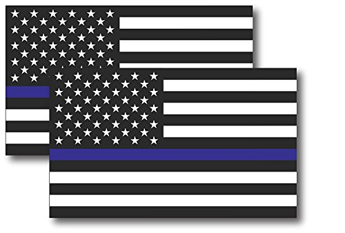 Reflective Magnet Decal-Thin Blue Line US Flag Magnetic Decal for Car 3