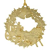 ChemArt Christmas Horse and Buggy Ornament